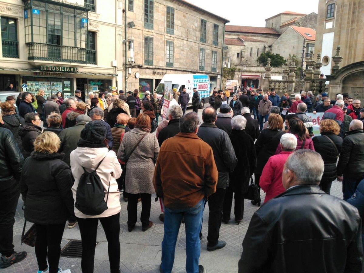 Mobilización de pensionistas en Pontevedra