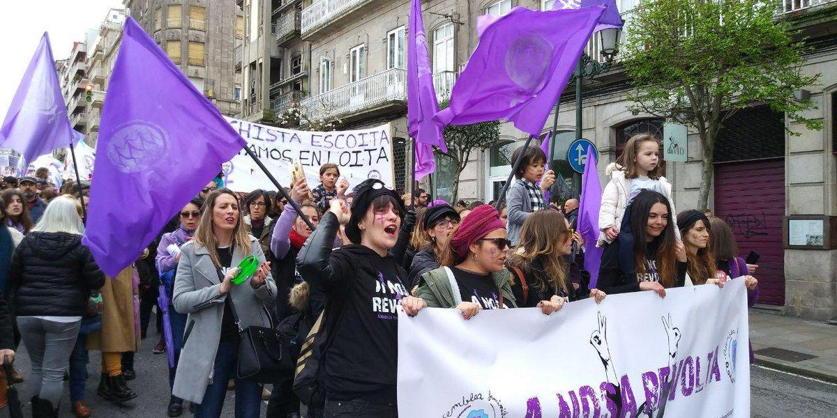 Manifestación feminista en Vigo
