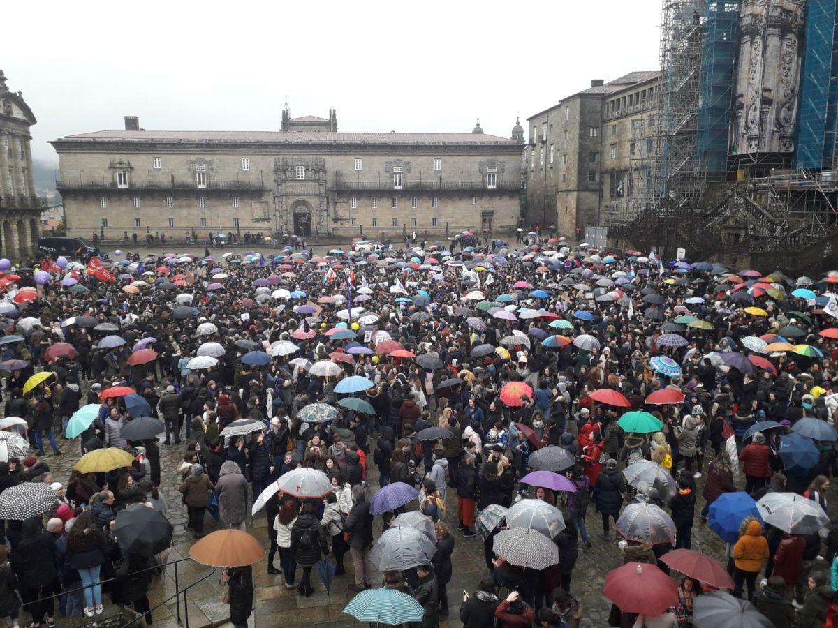 Concentración en Compostela