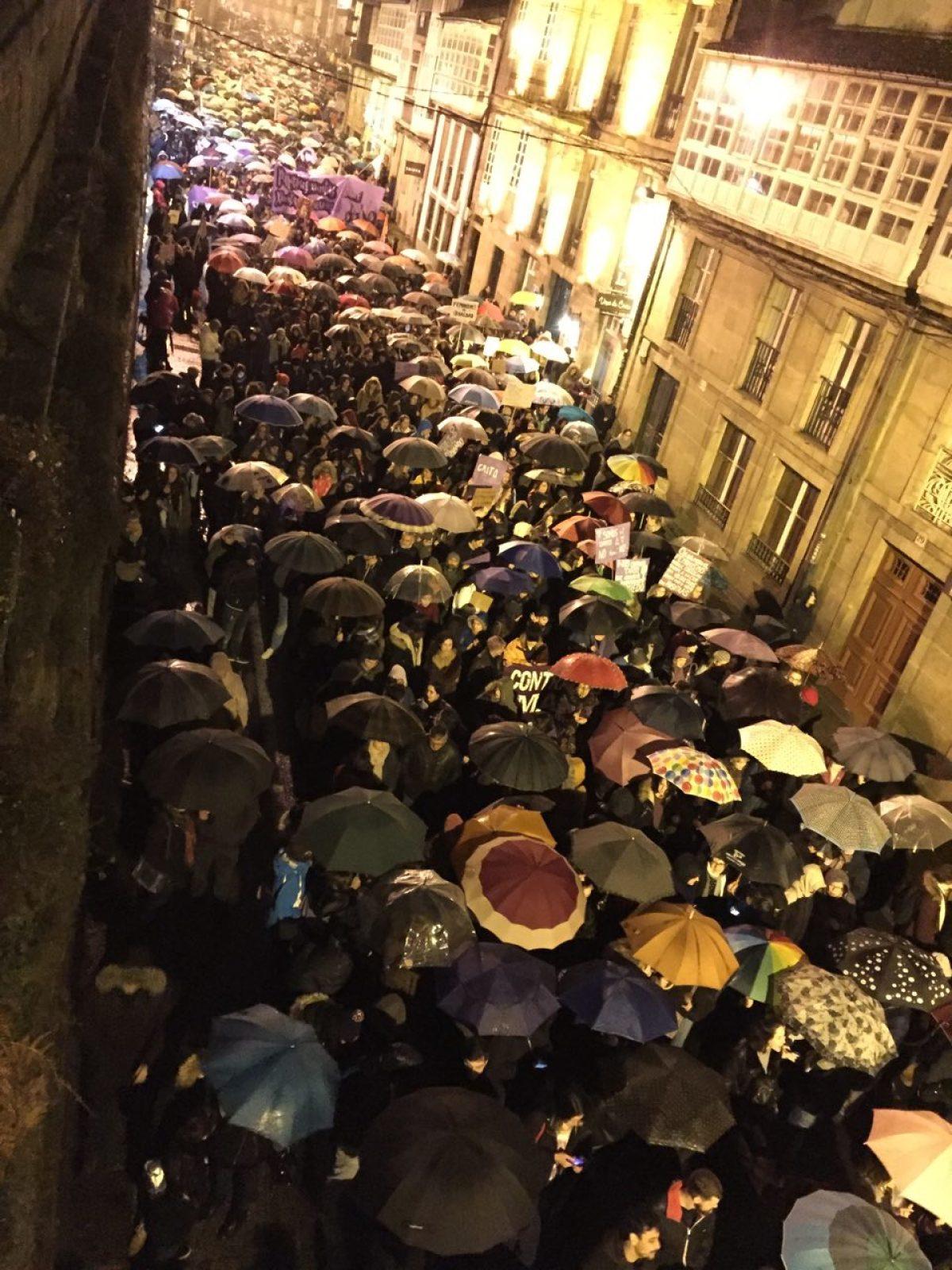 Un intre da manifestación deste serán en Santiago