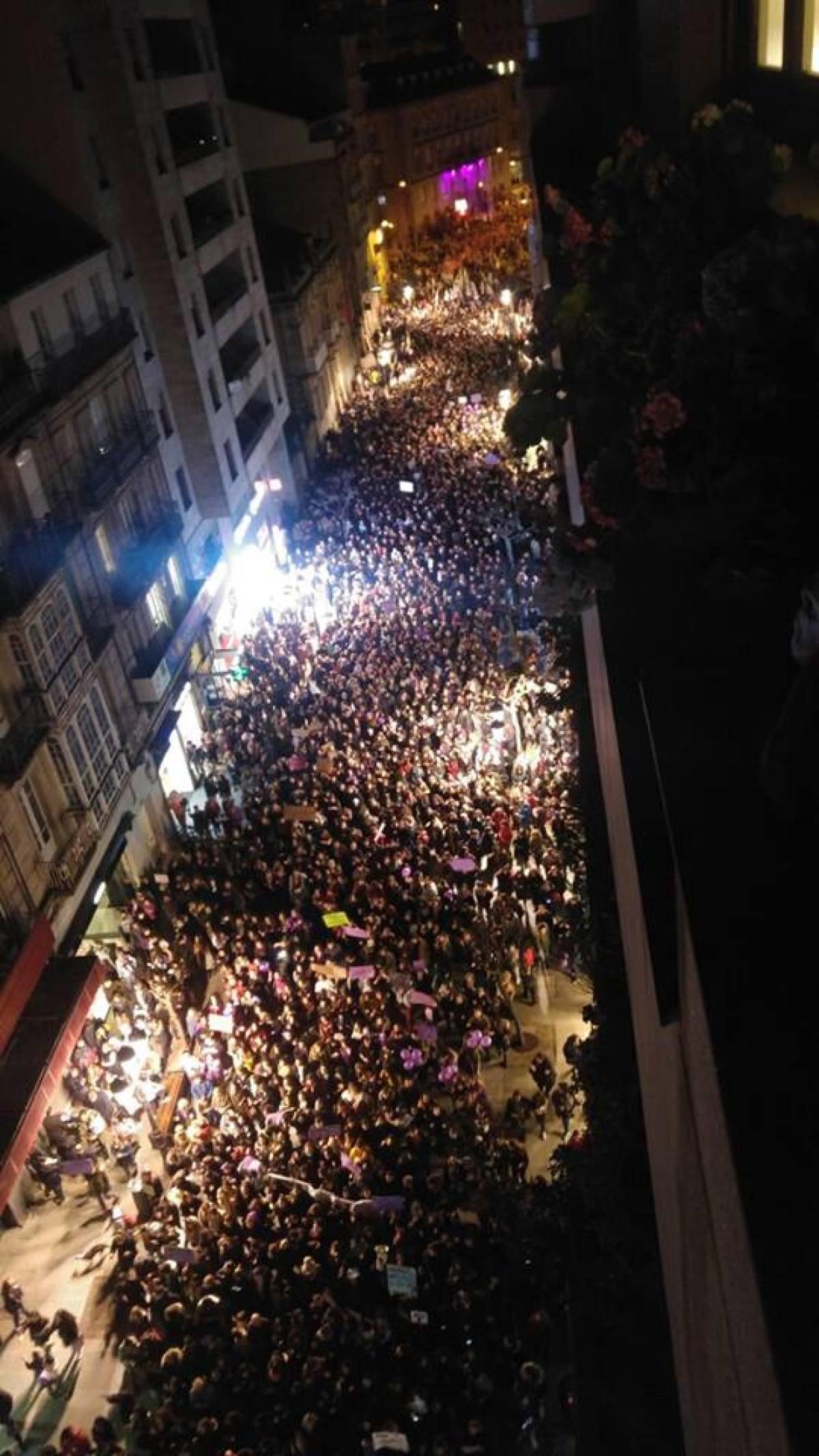Manifestación do serán en Ourense