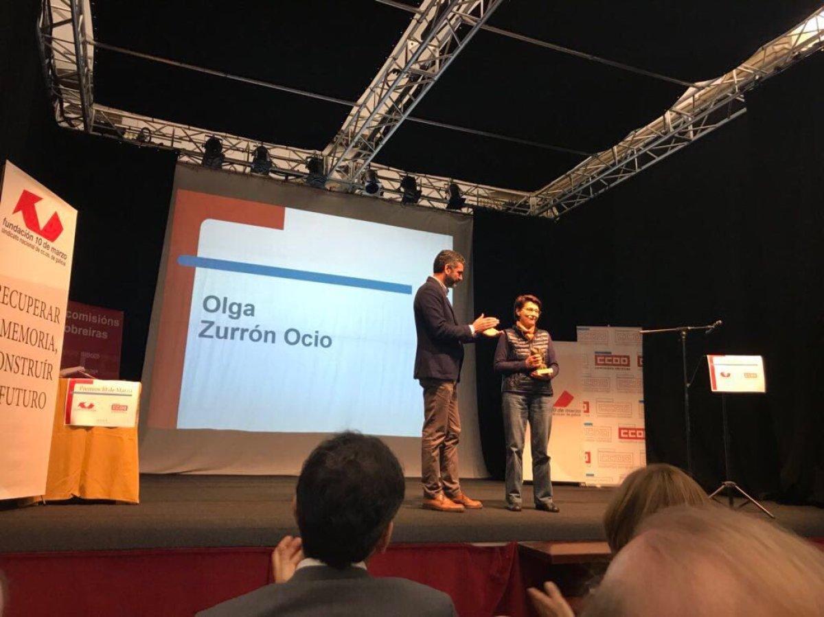 Entrega do premio 10 de Marzo a Olga Zurrón