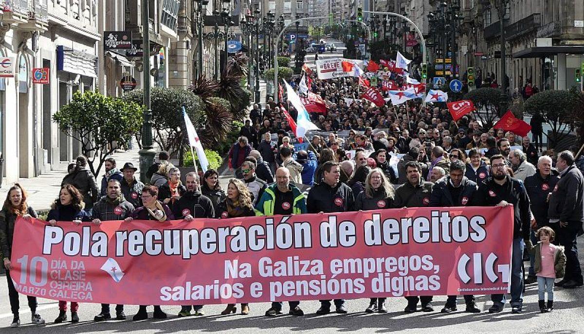 Manifestación da CIG en Vigo