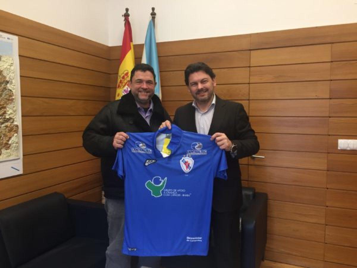 Manolo Muíños, presidente do Galícia, co secretario xeral de Emigración, Rodríguez Miranda