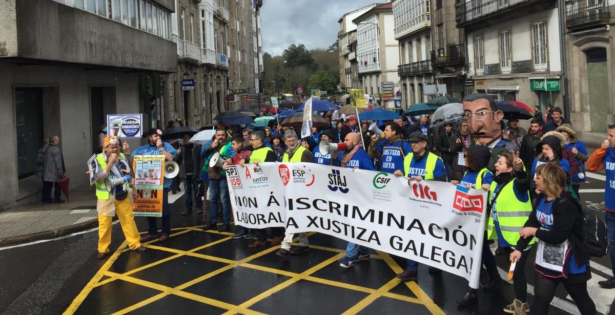 Manifestación do persoal da Xustiza polas rúas de Santiago