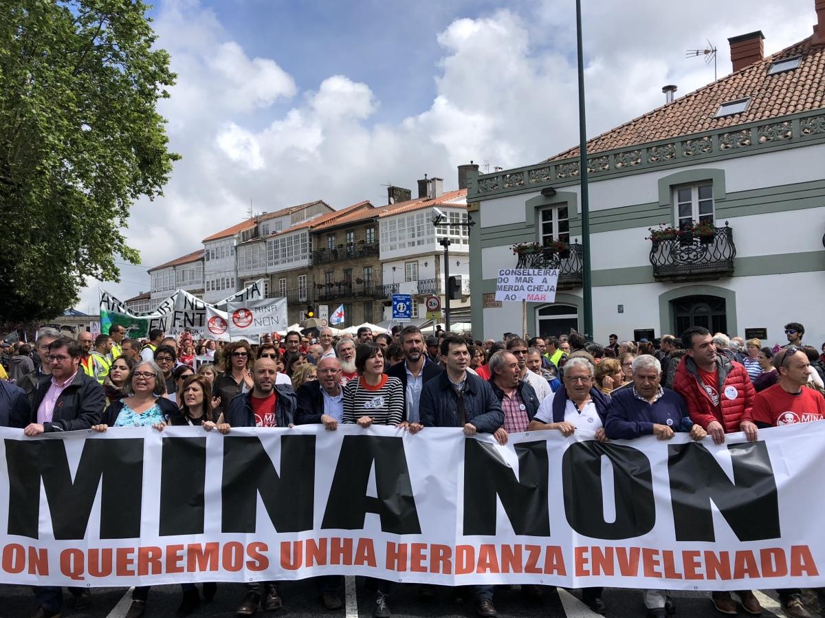 Villares, Caballero e Pontón xunto a representantes dos concellos afectados