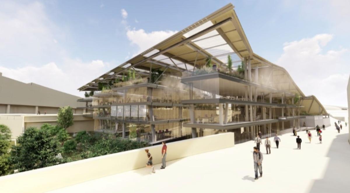 Recreación do Edificio Fontán do Gaiás