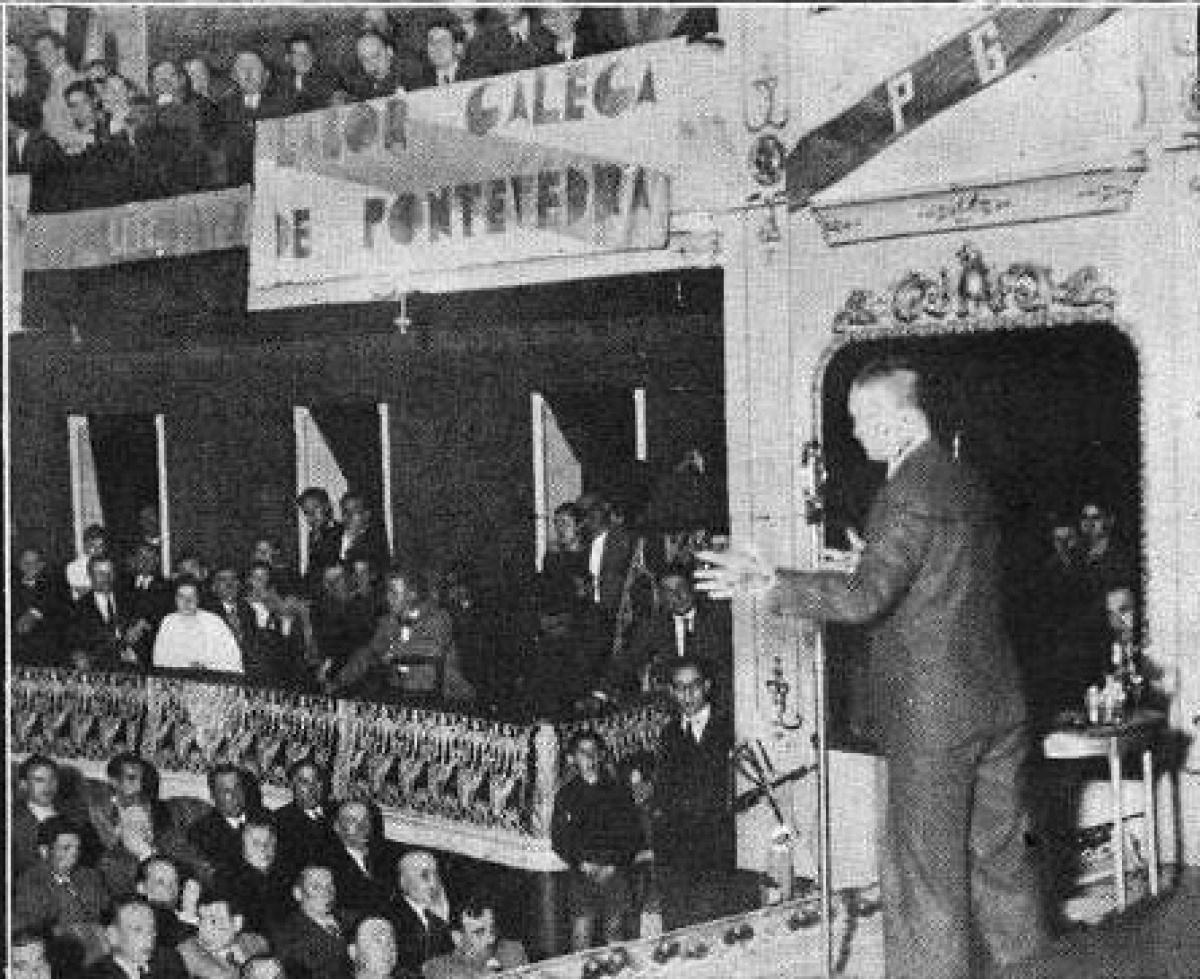 Mitin en Pontevedra dúas semanas antes do plebiscito