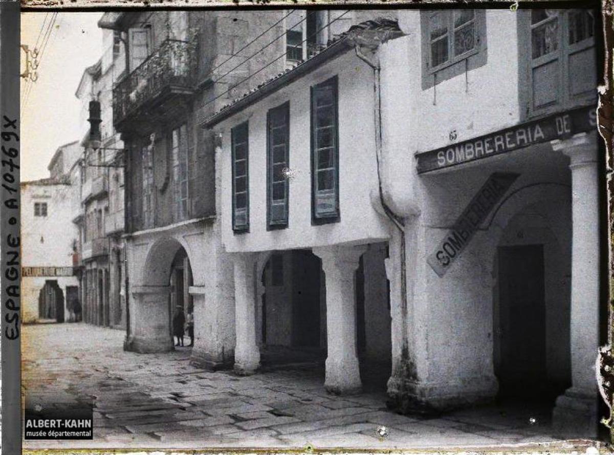 Rúa do Vilar, Santiago de Compostela (1917)