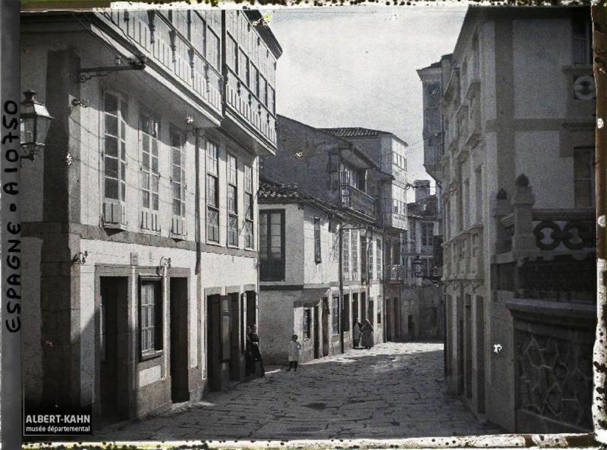 Rúa de Santo Domingo da Coruña (1917)