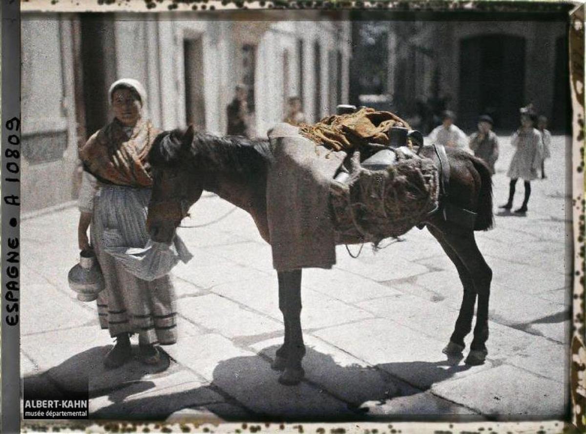 Muller e poldro na Coruña (1917)