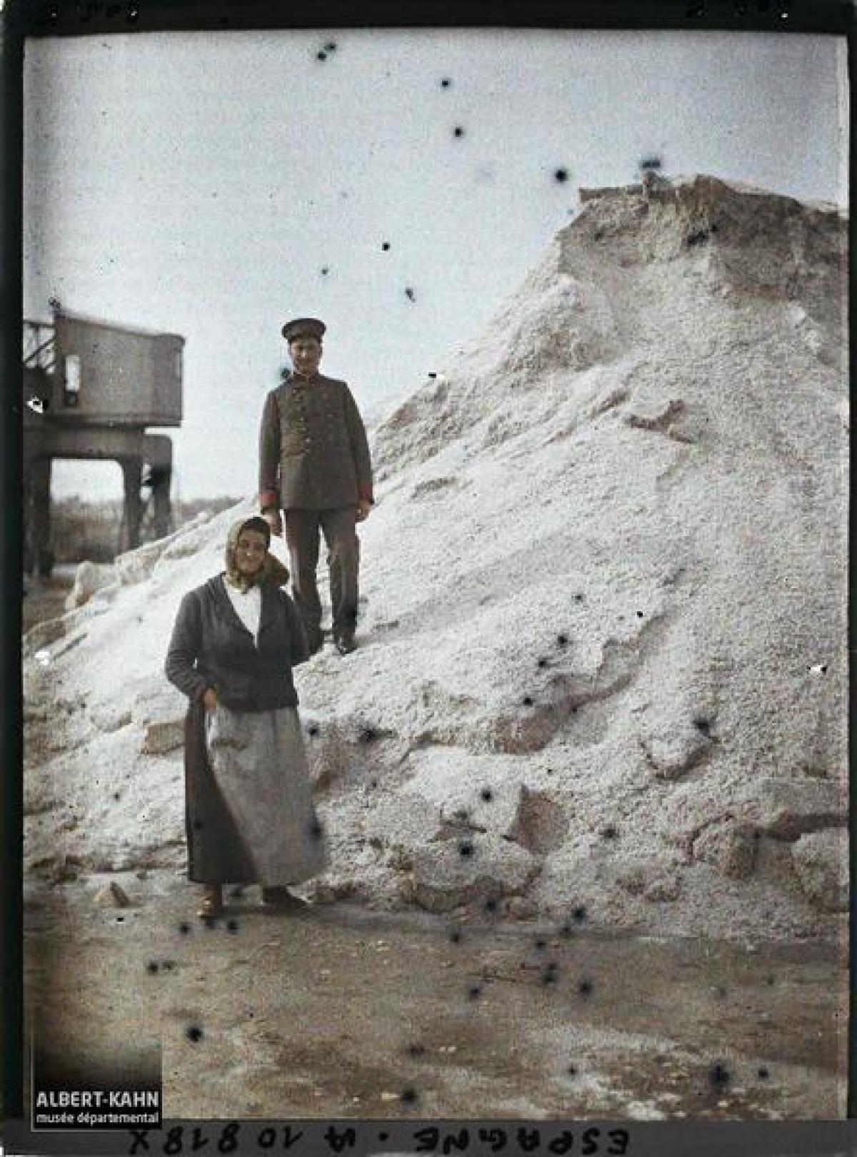 Morea de sal no Porto da Coruña (1917)
