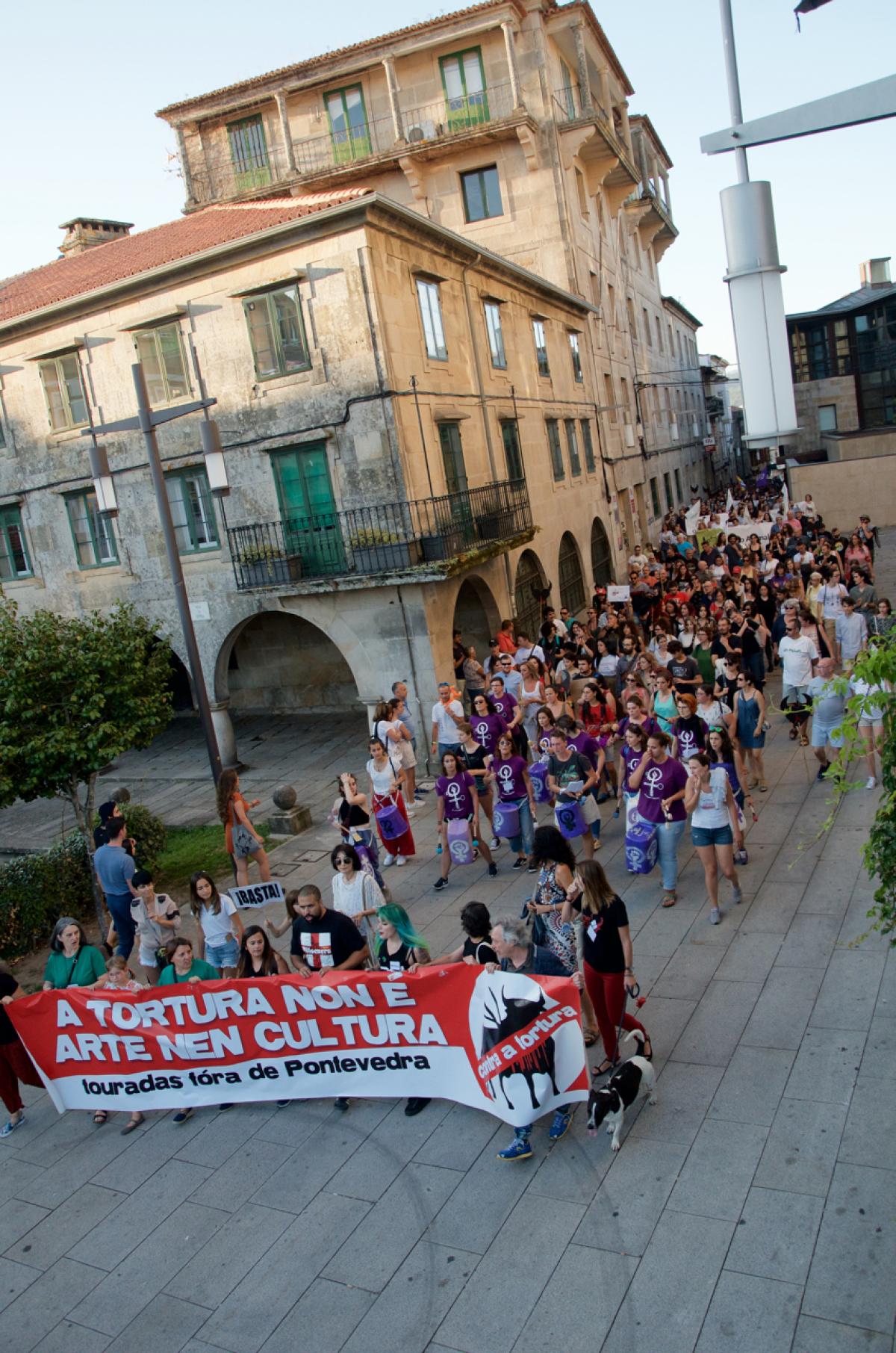 Manifestación antitouradas en Pontevedra