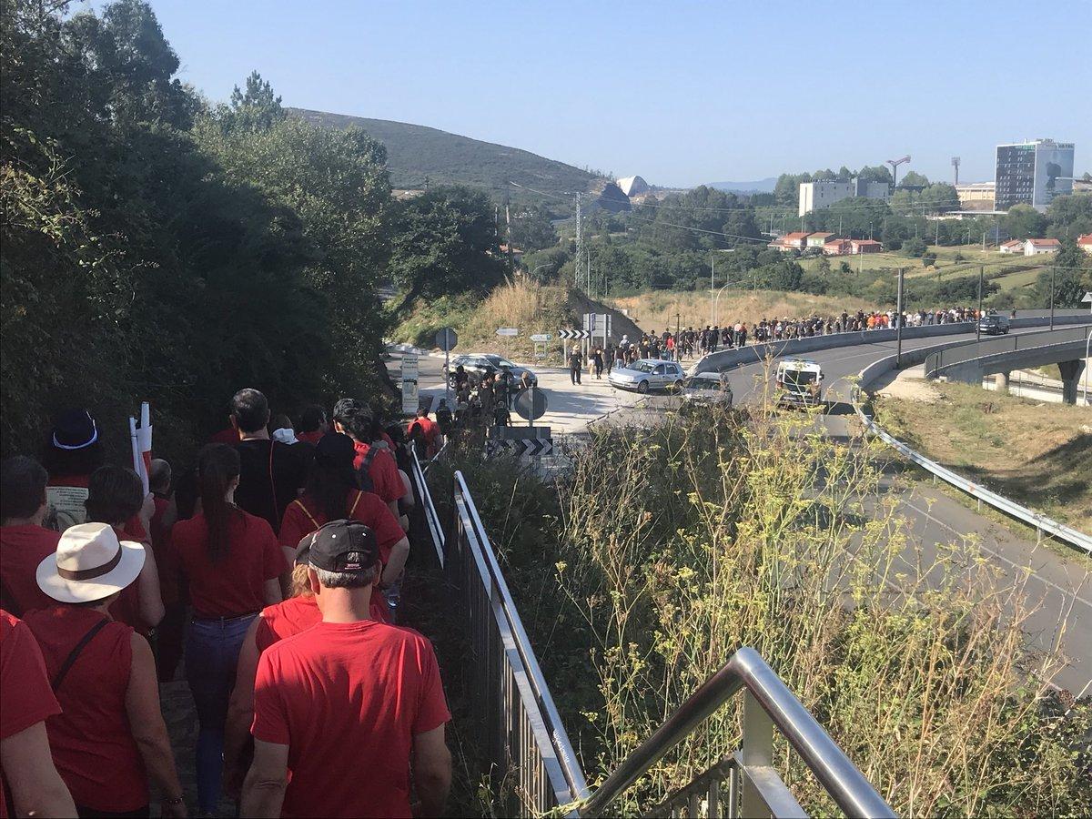 A marcha ao seu paso por San Lázaro