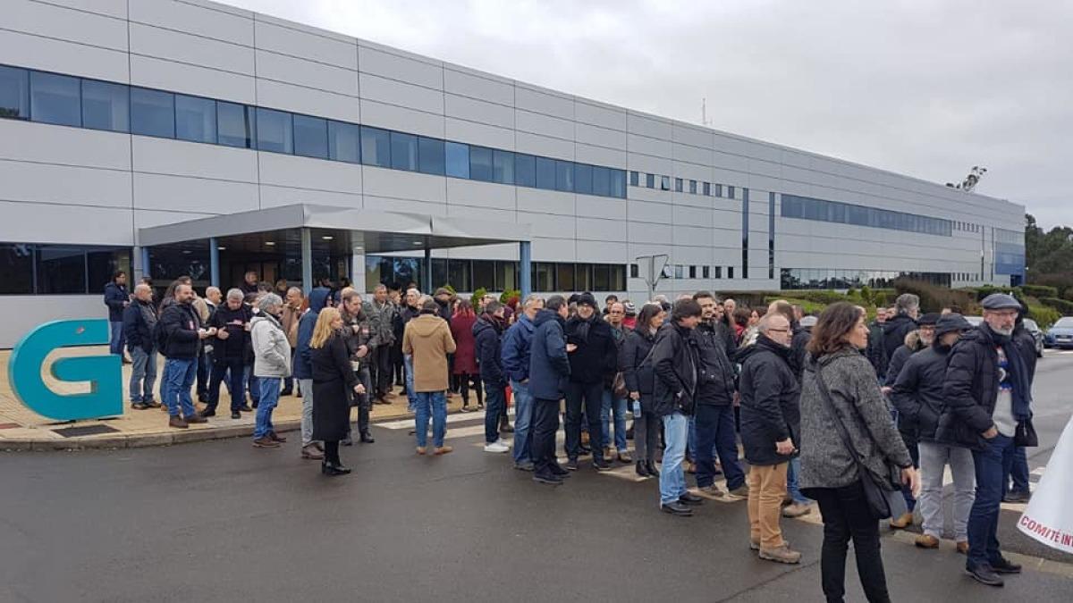Mobilización de persoal da CRTVG en Compostela no quinto día de paros